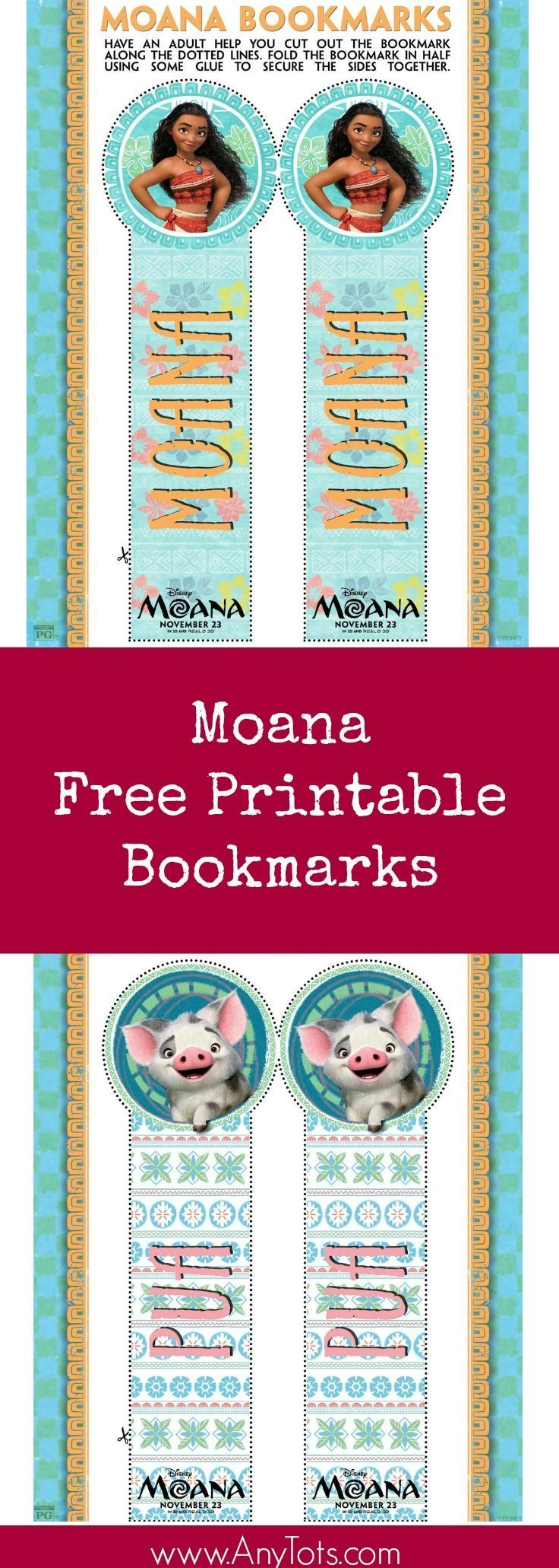 Moana Free Printable Bookmarks. You can add it as a Moana Party ...