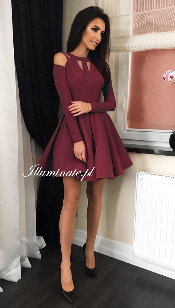 Zaira Bordowa W 2019 Illuminate Lookbook Sukienki Na Wesele