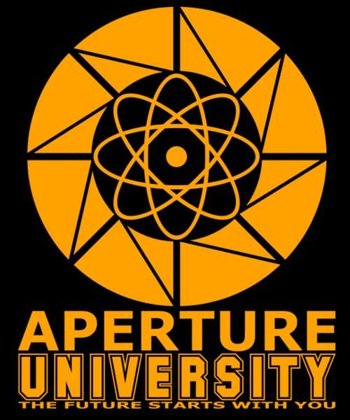 """""""Aperture university"""" for just 12hr more on http://t.co/yRELPmoHC0 ReTweet for chance at FREE TEE! http://t.co/UnfCzJVlOc"""