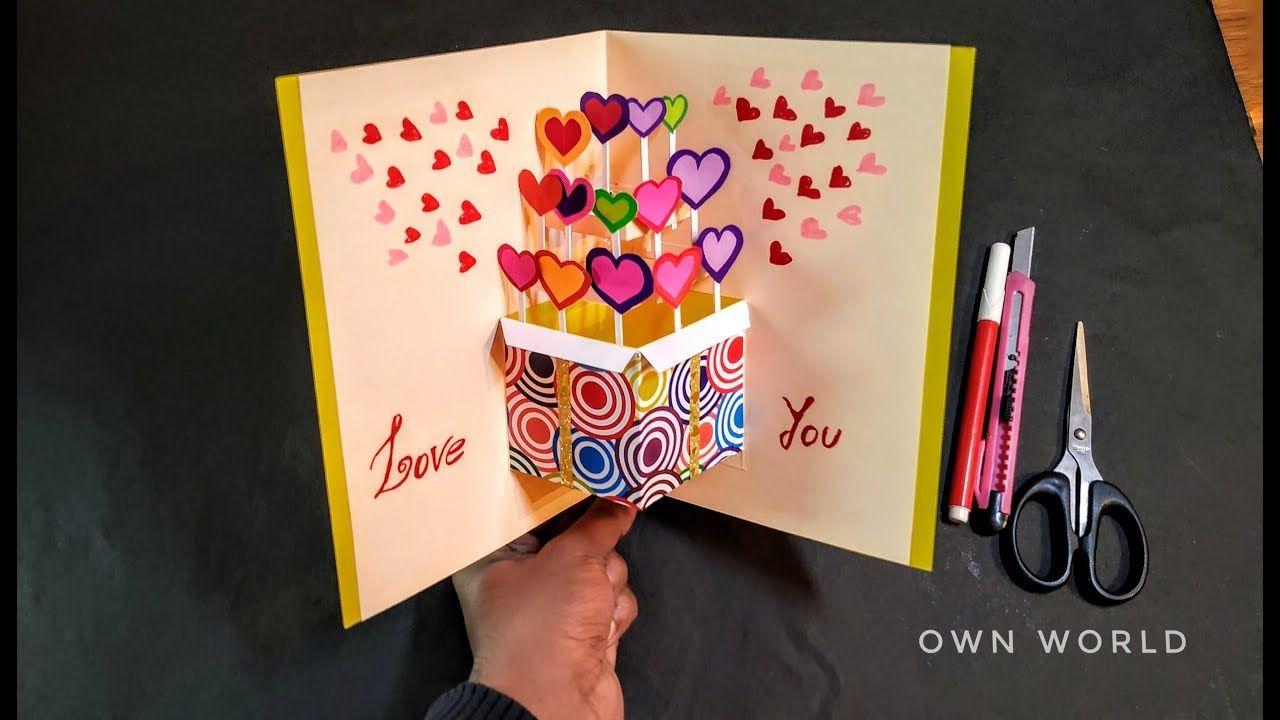 Handmade Valentine S Day Card Idea Diy Pop Up Card For