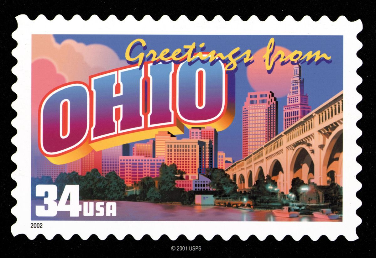 Ohio stamps google search state stampsstamps honoring blacks 2002 greetings from america ohio catalog 3730 for sale at mystic stamp company kristyandbryce Images