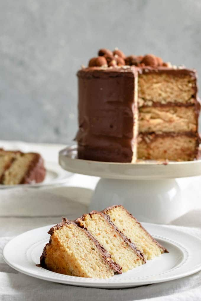 Vegan Hazelnut Cake With Whipped Chocolate Ganache