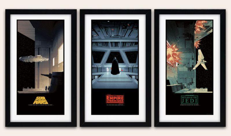 matt ferguson civil war posters | Matt Ferguson Star Wars Saga 'd Triptych Set - 3x Movie Poster Art ...