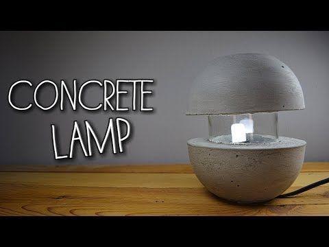 Betonlampe Diy Concrete Lamp Eng Sub Youtube Concretelamp