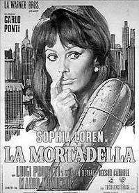 """Cartaz de """"La Mortadella"""": Sophia Loren é madrinha do produto"""
