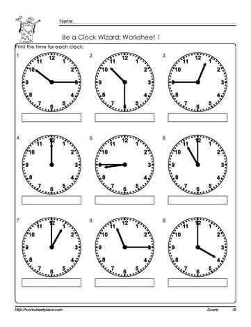 Telling-Time-to-The Quarter-Worksheet-1 Math Ideas Pinterest - time worksheets