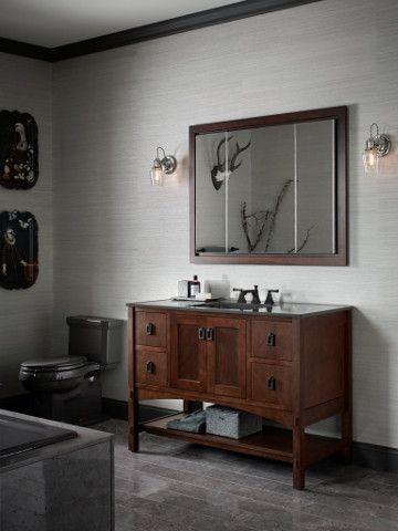 Create a vintage look for your bathroom with #kohler Marabou 48 ...