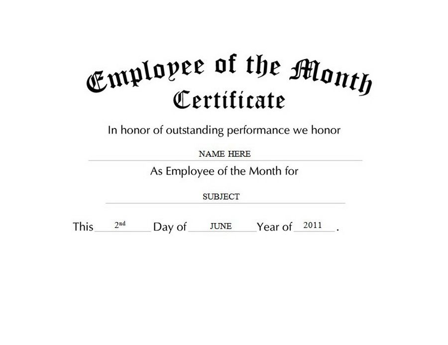 Employee of the month certificate template free awards certificates free templates clip art amp wording employee of the month certificate template free yadclub Gallery