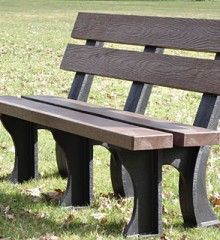 Park Benches With Concrete Ends And Wood Seats And Backs Google