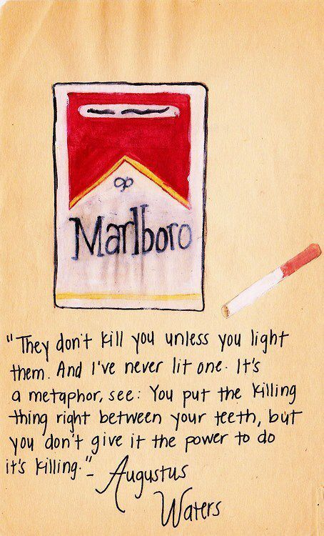 It's a metaphor, you see... | The fault in our stars ...