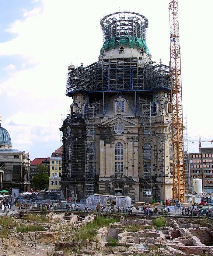 Wiederaufbau Frauenkirche Reconstruction Of The Frauenkirche Dresden Dresden Deutschland Wiederaufbau