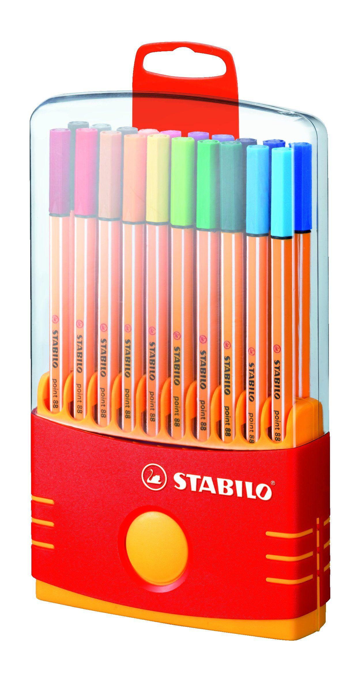 Stabilo Point 88 Colorparade Stylo Feutre Avec Attache Couleurs