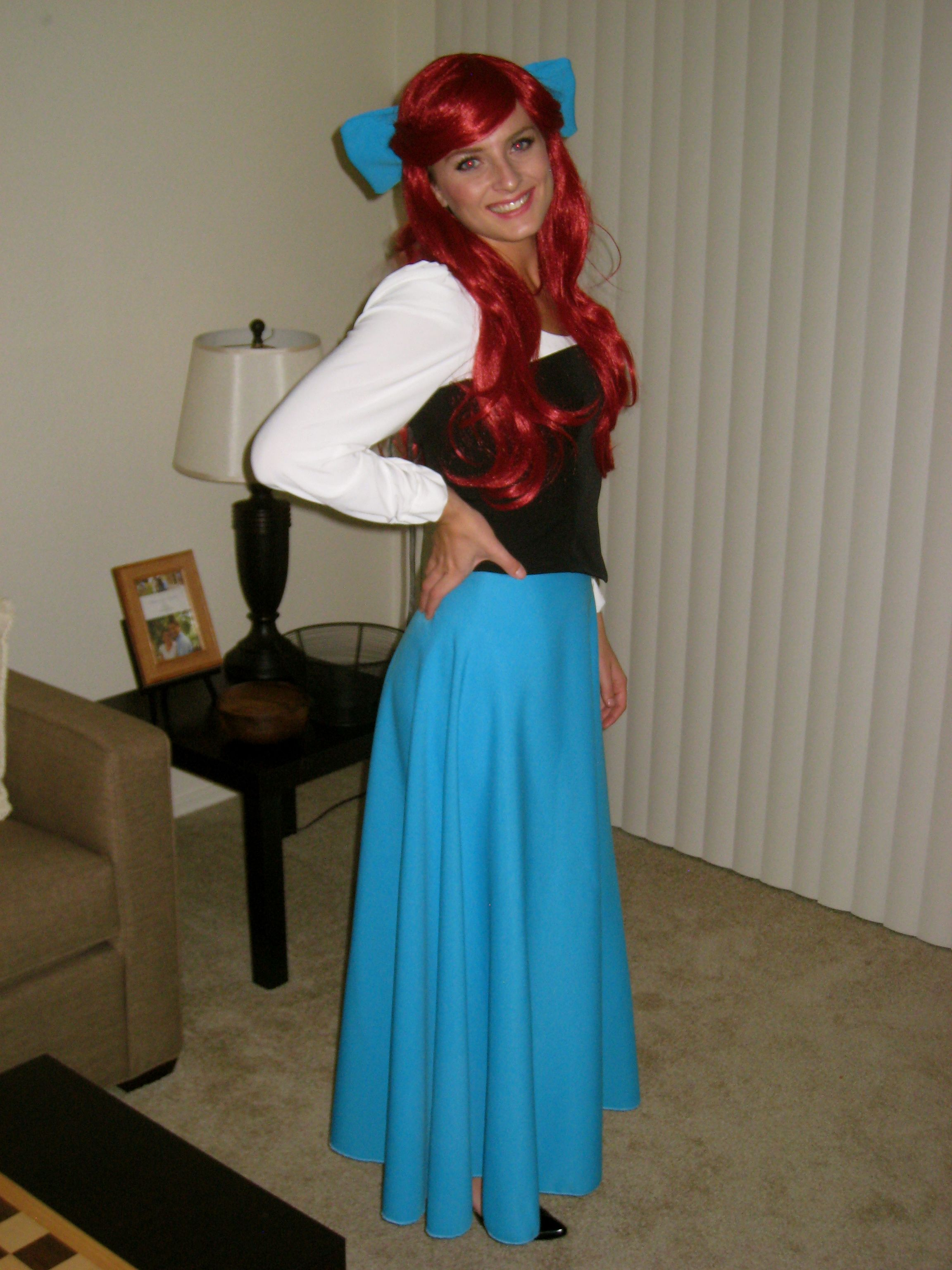 Homemade Disney Costume Ideas Ariel Costume Her Date Costume So Cute Too Halloween Costumes