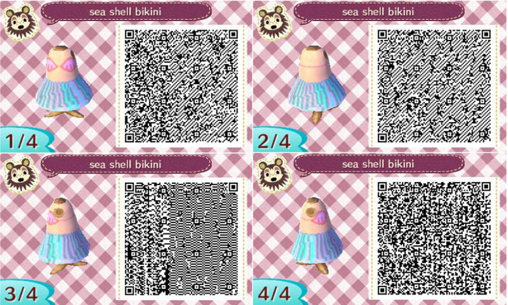 Animal Crossing New Leaf Seashell Bikini By Nights San On Deviantart Animal Crossing Animal Crossing Qr Animal Crossing Game