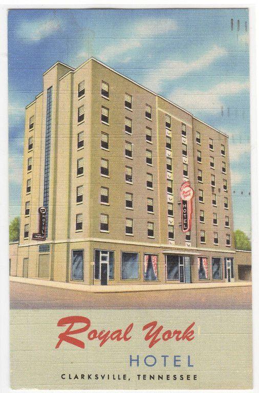 Royal York Hotel Clarksville Tennessee 1950 Linen Postcard Hotels