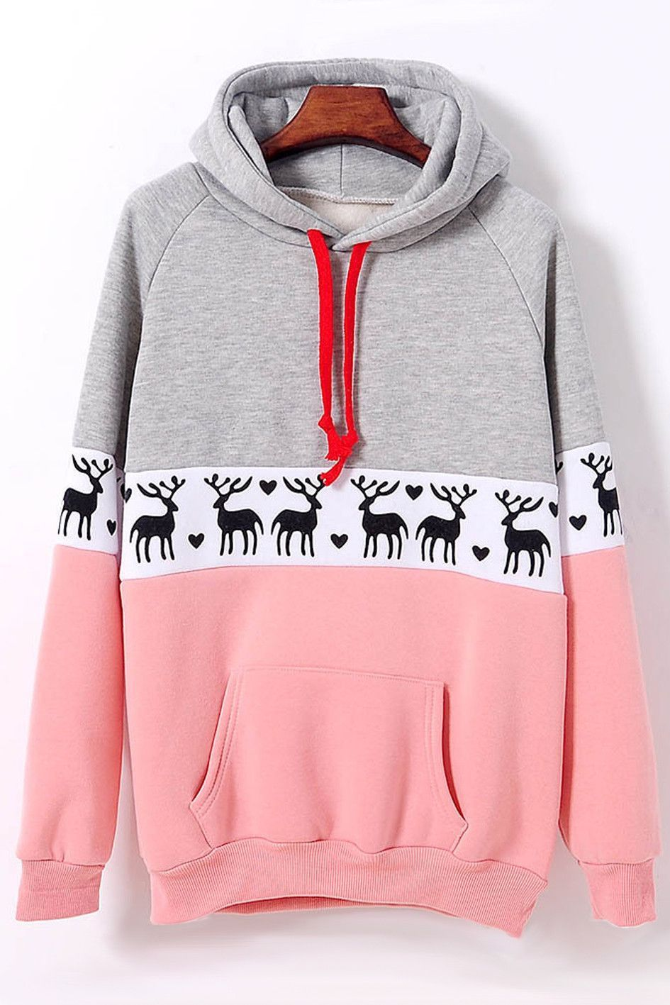 Christmas Deer Pullover Sweatshirt Hoodie Top Sweater | Christmas ...