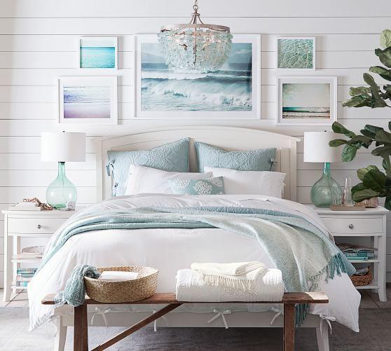 Enya Seaglass Chandelier Potterybarn Beach Style Bedroom