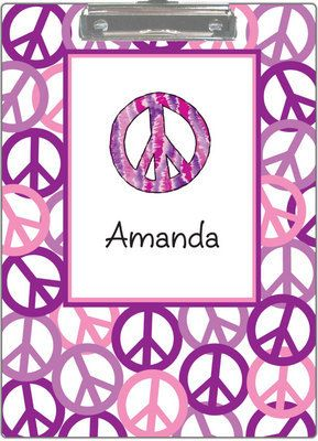 Personalized Purple Peace Out Clipboard