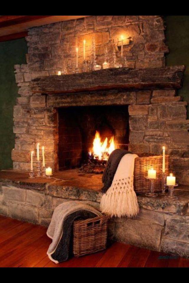 plaid et bougies xmas feu de chemin e maison foyer. Black Bedroom Furniture Sets. Home Design Ideas