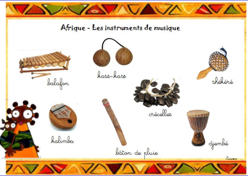 vocabulaire  Afrique  Afrique  Pinterest ~ Instrument En Bois Africain