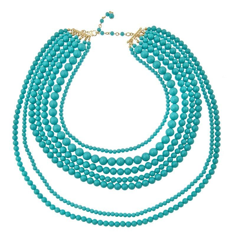Miranda Turquoise Multi Strand Necklace | Opaleen