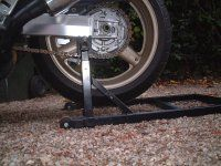 Diy Rear Paddock Stand Fairly Simple Construction Bike