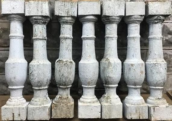 Best Large Antique Chunky Wood Balusters Spindles Porch Post 640 x 480