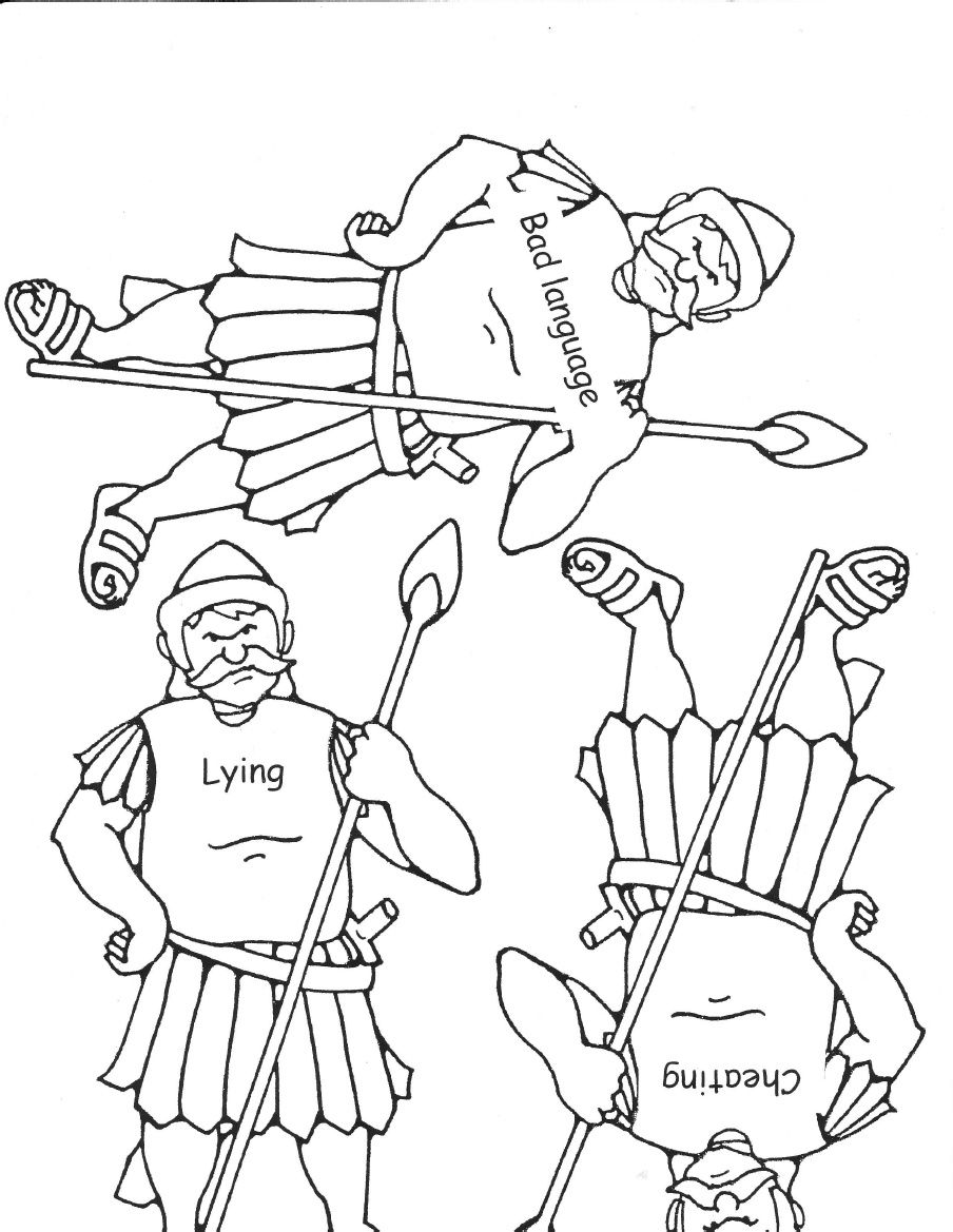 Free coloring pages david and goliath - David And Goliath Activity Black And White
