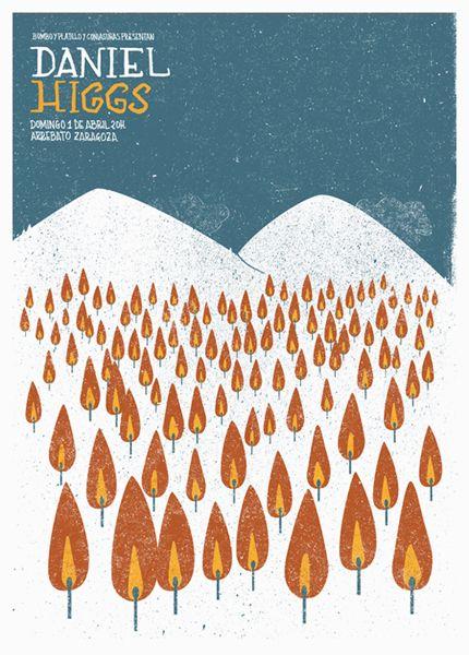 Daniel Higgs poster by Daniel Hernando #simple #screenprint