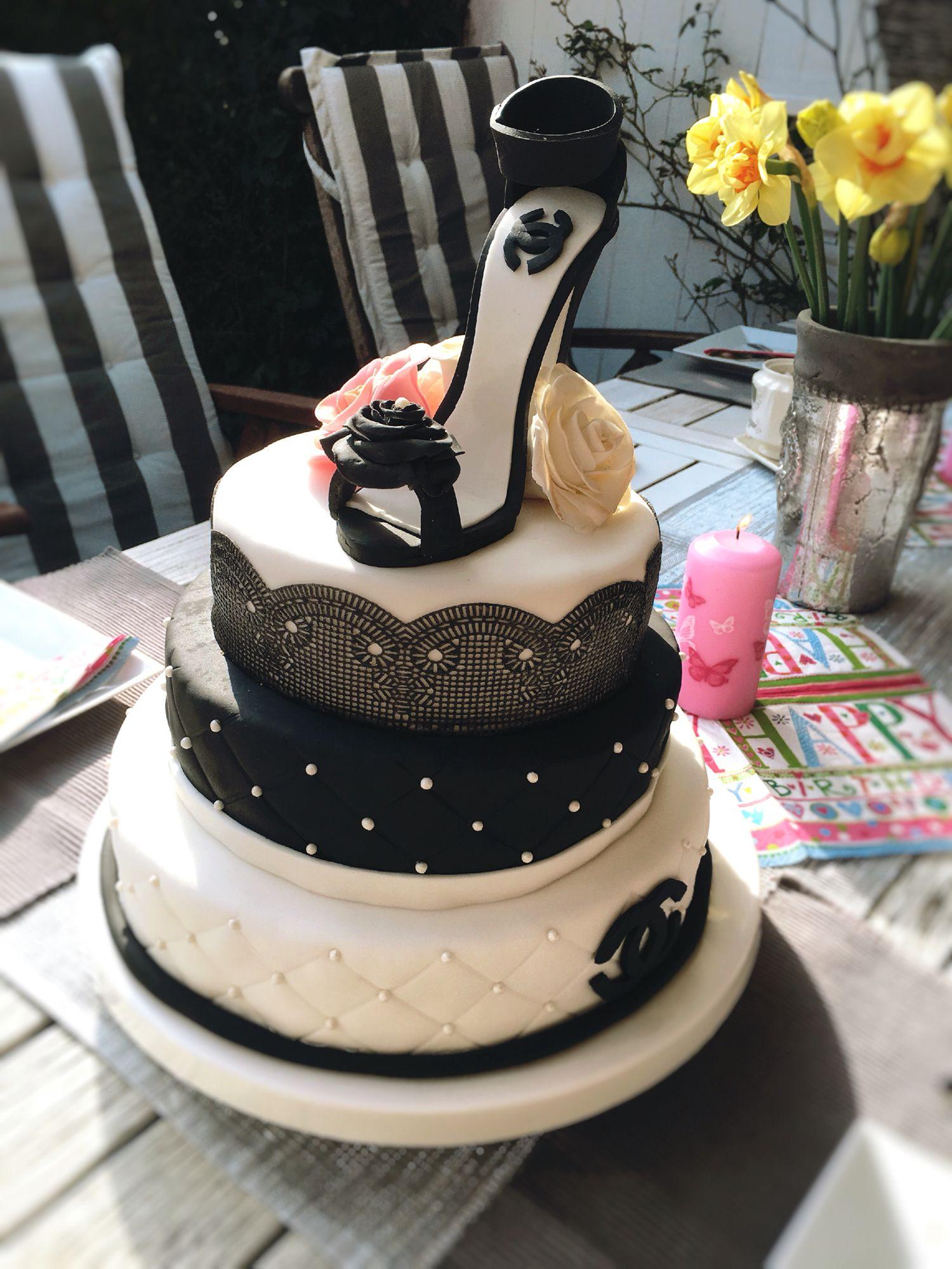 High Heel Torte Mit Schuh Fondant Cake