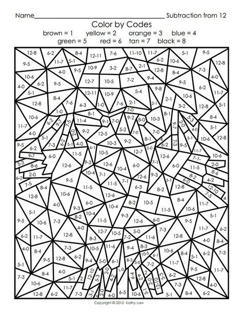 Color By Number For Adults Math Coloring Math Coloring Worksheets Color By Number Printable
