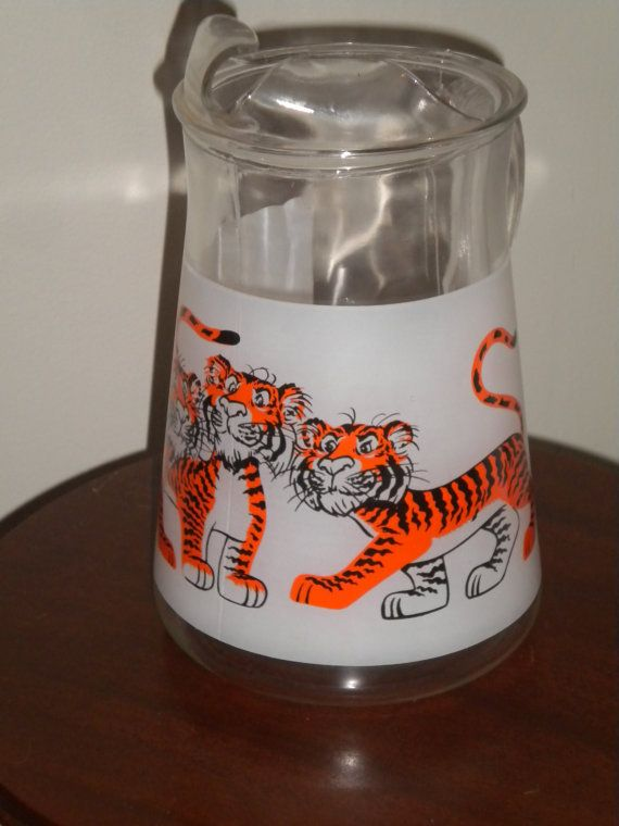 Vintage Esso Texaco Tiger Pitcher with Four by PickledFurniture, $50.00