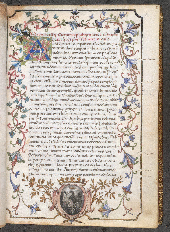 Image result for medieval manuscript cicero letter to a friend