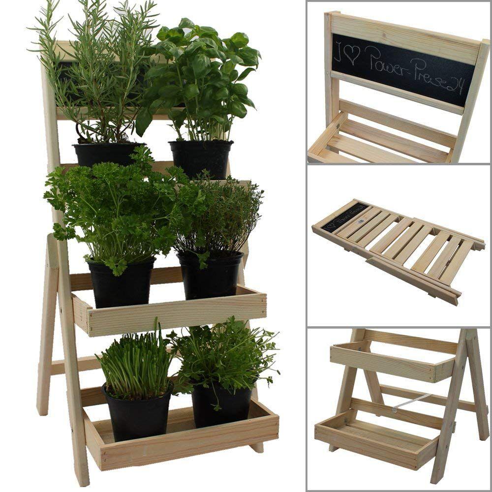 PROHEIM Blumentreppe aus FSC® Holz klappbarer