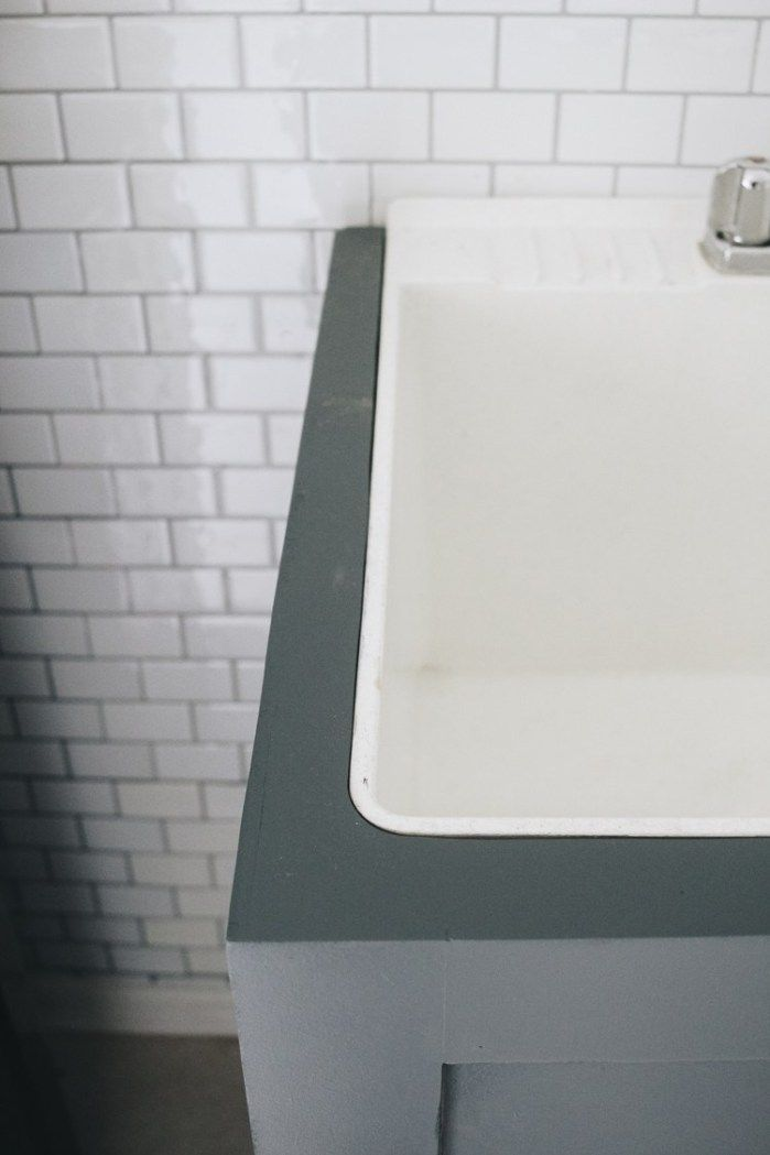 How To Hide Your Utility Sink Faux Cabinet Tutorial