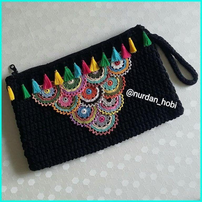 Hand knitted bags patterns - Knittting Crochet - Knittting Crochet
