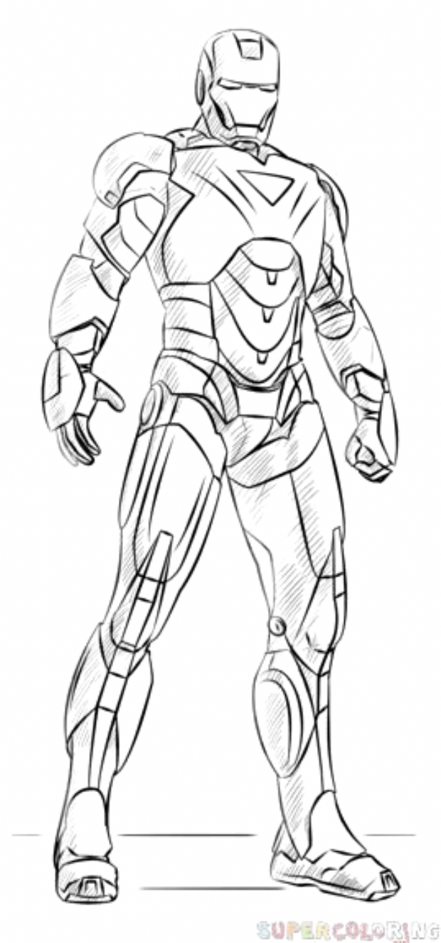 How To Draw Iron Man Avengers Coloring Cute Iron Man Coloring Page Avengers Coloring Iron Man Avengers Iron Man