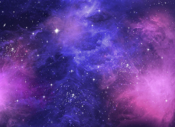 Galaxy Of Purple And Blue Art Print By Elaine Plesser Blue Art Prints Purple Galaxy Wallpaper Purple Painting