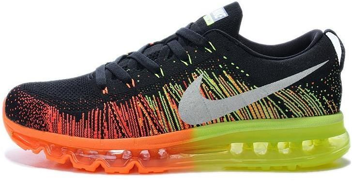 good quality offer discounts the cheapest Nike Air Max 2014 Flyknit Orange Green Grey Black | Mens Air ...