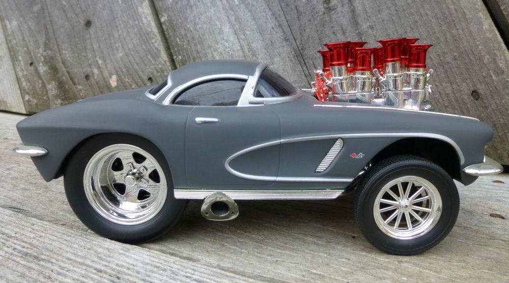 Funline Muscle Machines 1962 Corvette 1/18 Scale Diecast Car Gray ...