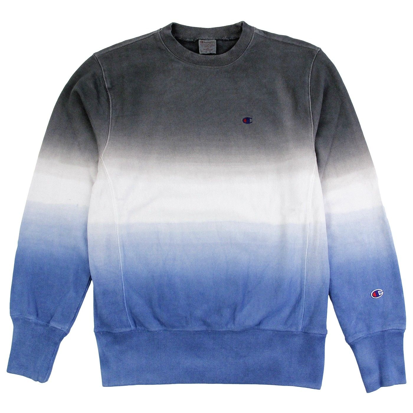 Champion Dip Dyed Classic Crew Neck Sweatshirt in Navy / White ...