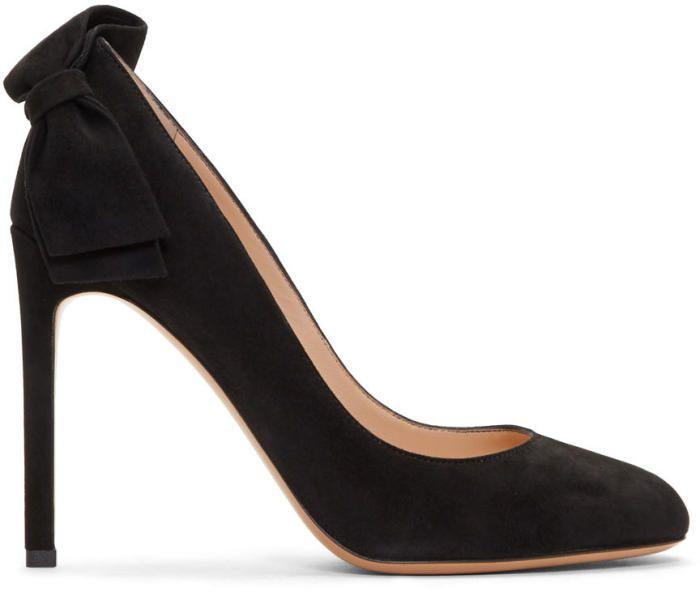 Valentino Garavani Suede Pretty Bow Heels