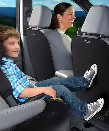 Another Great Find On Zulily Black Deluxe Kick Mat Set Of Two By Brica Zulilyfinds Car Seat Kick Mat Kick Mat Car Seats