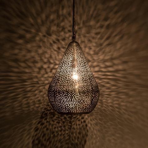 Rice pattern ballon shaped hanging lamp artemano