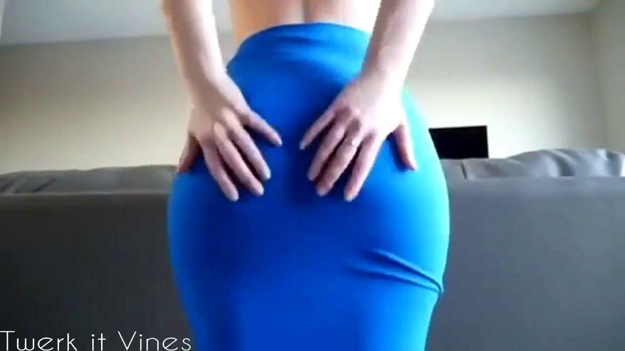Ashley Alban Twerk in Blue Dress - Twerk 2017 | Amazing