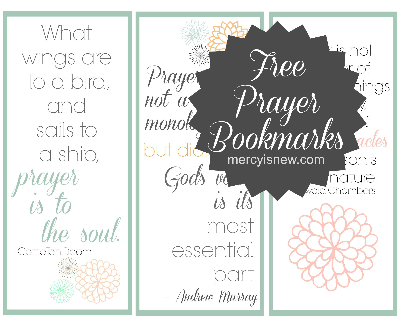 Free Printable Prayer Bookmarks Free Printables