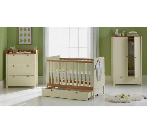 buy babystart classic two tone 5 piece nursery furniture. Black Bedroom Furniture Sets. Home Design Ideas