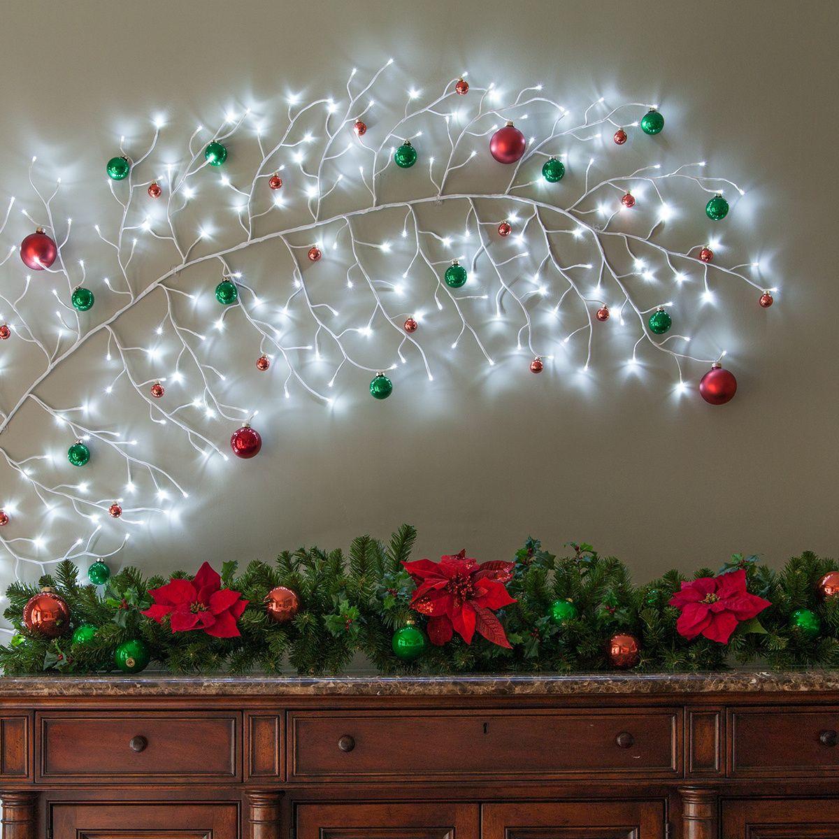 Photo of Rami illuminati bianchi rampicanti con luci a LED bianco freddo, 1 pz – Luci natalizie, ecc