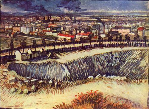 Outskirts of Paris near Montmartre - Vincent van Gogh (1887)