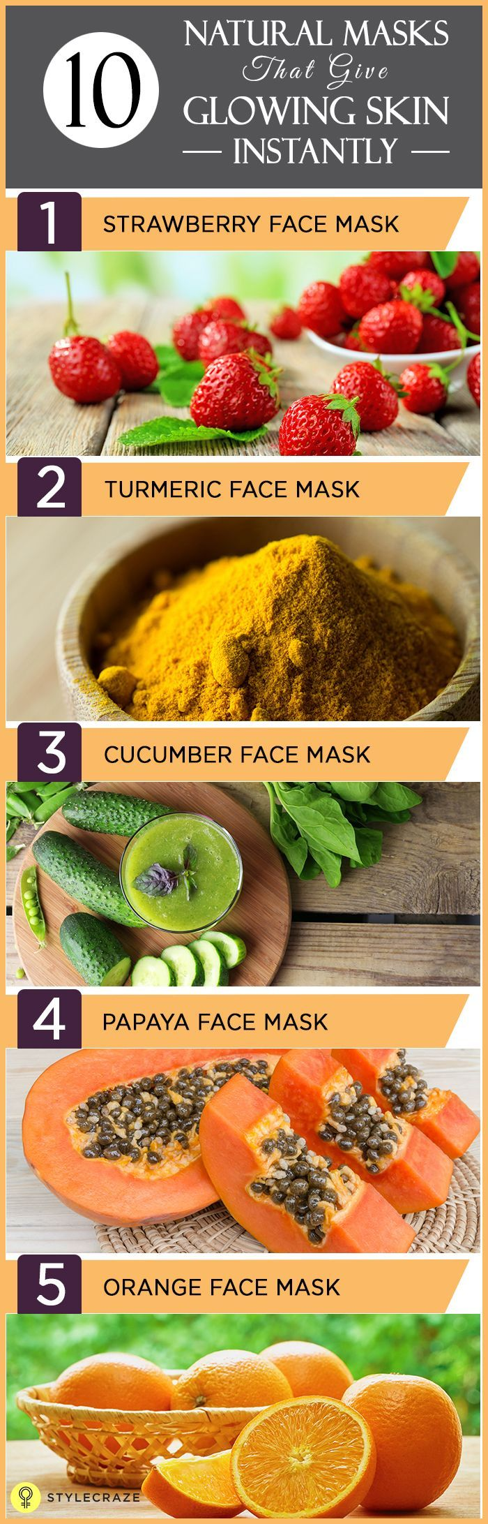 16 Top DIY Face Masks For Glowing Skin That You Can Make At Home